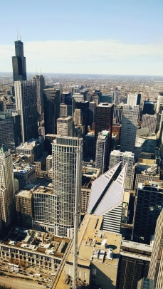 Western view from Aon Center (71st floor)