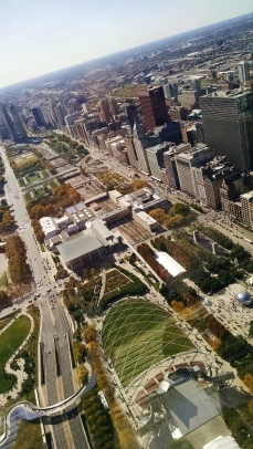 View of Millenium Park from Aon Center (71st floor)
