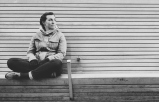 "River walk bench ""album shot"" haha"