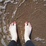 Last toe dip in the Pacific for a while...